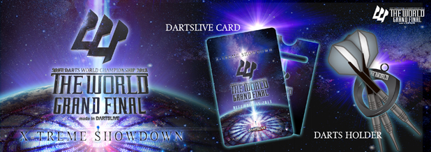 THE WORLD GRAND FINAL Gifts with a Ticket Purchase / DARTSLIVE CARD / DARTS HOLDER